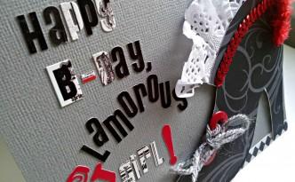 Felicitación de cumpleaños Happy B-day Glamorous Girl