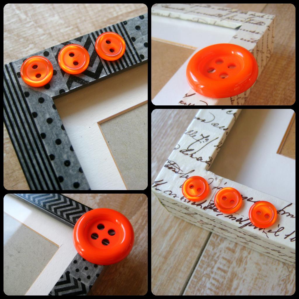 Detalle de los botones en los marcos