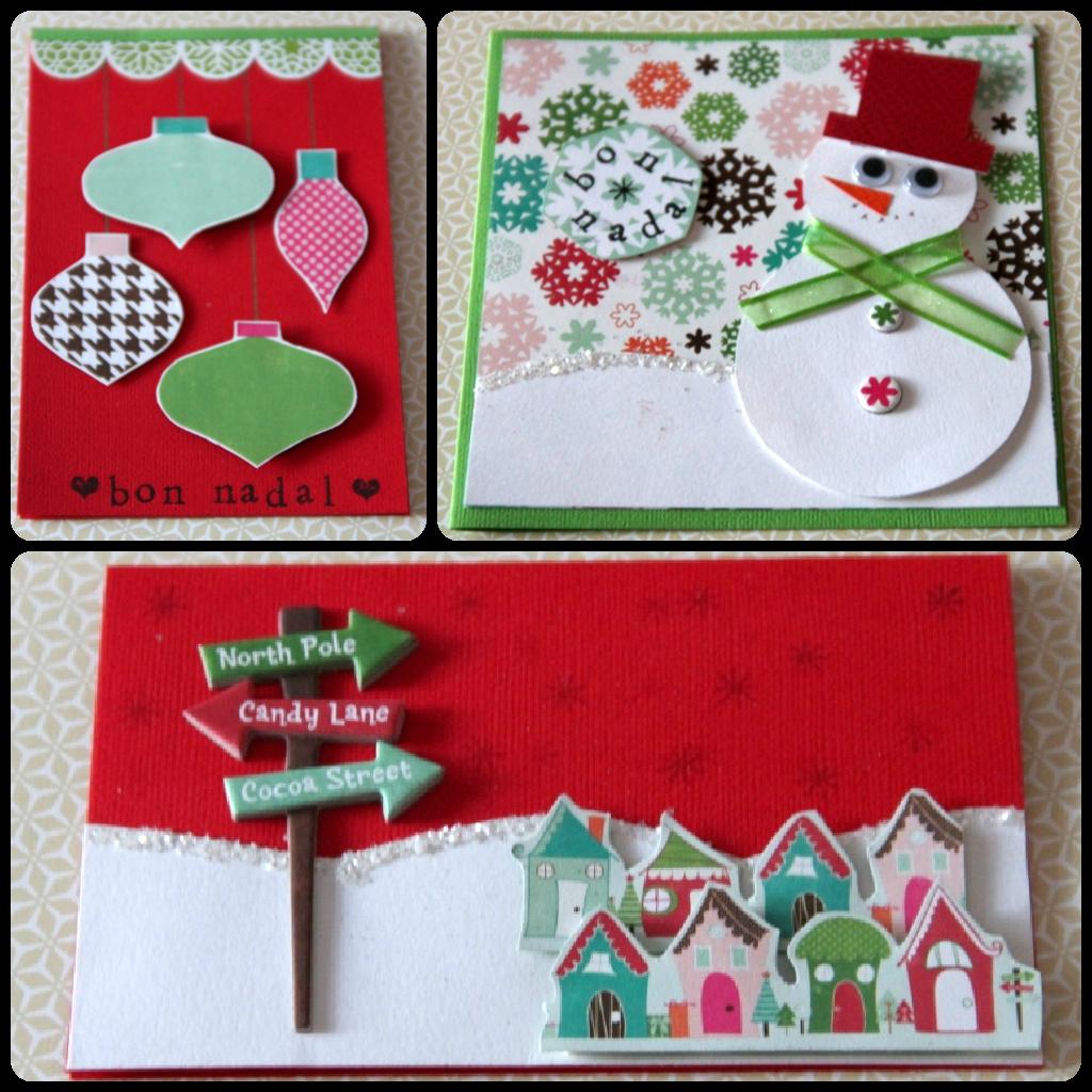 Postales de navidad x nia crafts - Tarjeta de navidad manualidades ...
