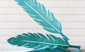 sello carvado de una pluma