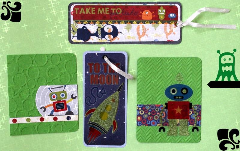 Postales y puntos de libro para niños