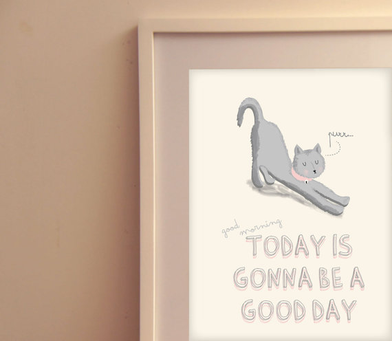 a good day - poster ilustración