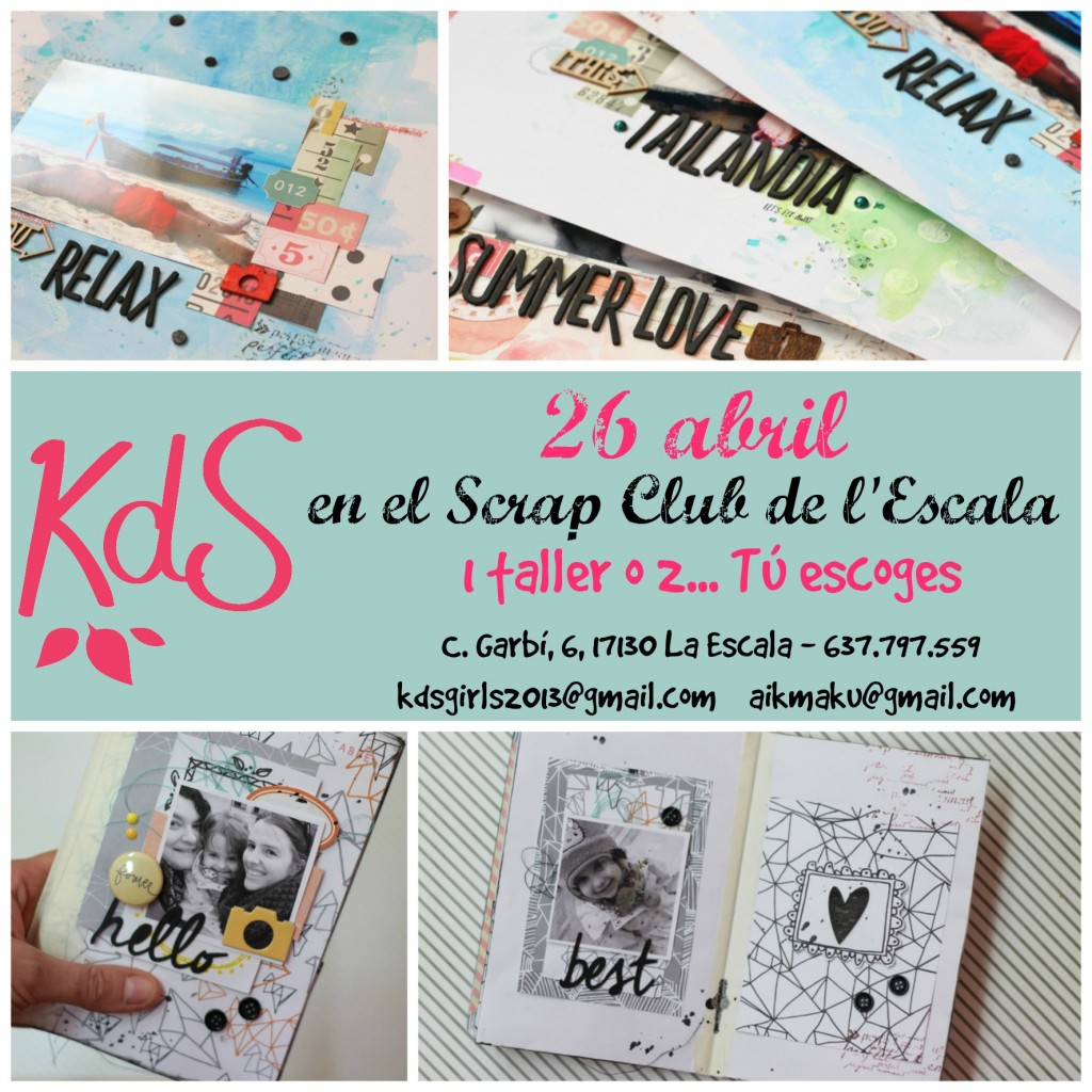 Cartell Taller Scrap Club Escala_castellà3
