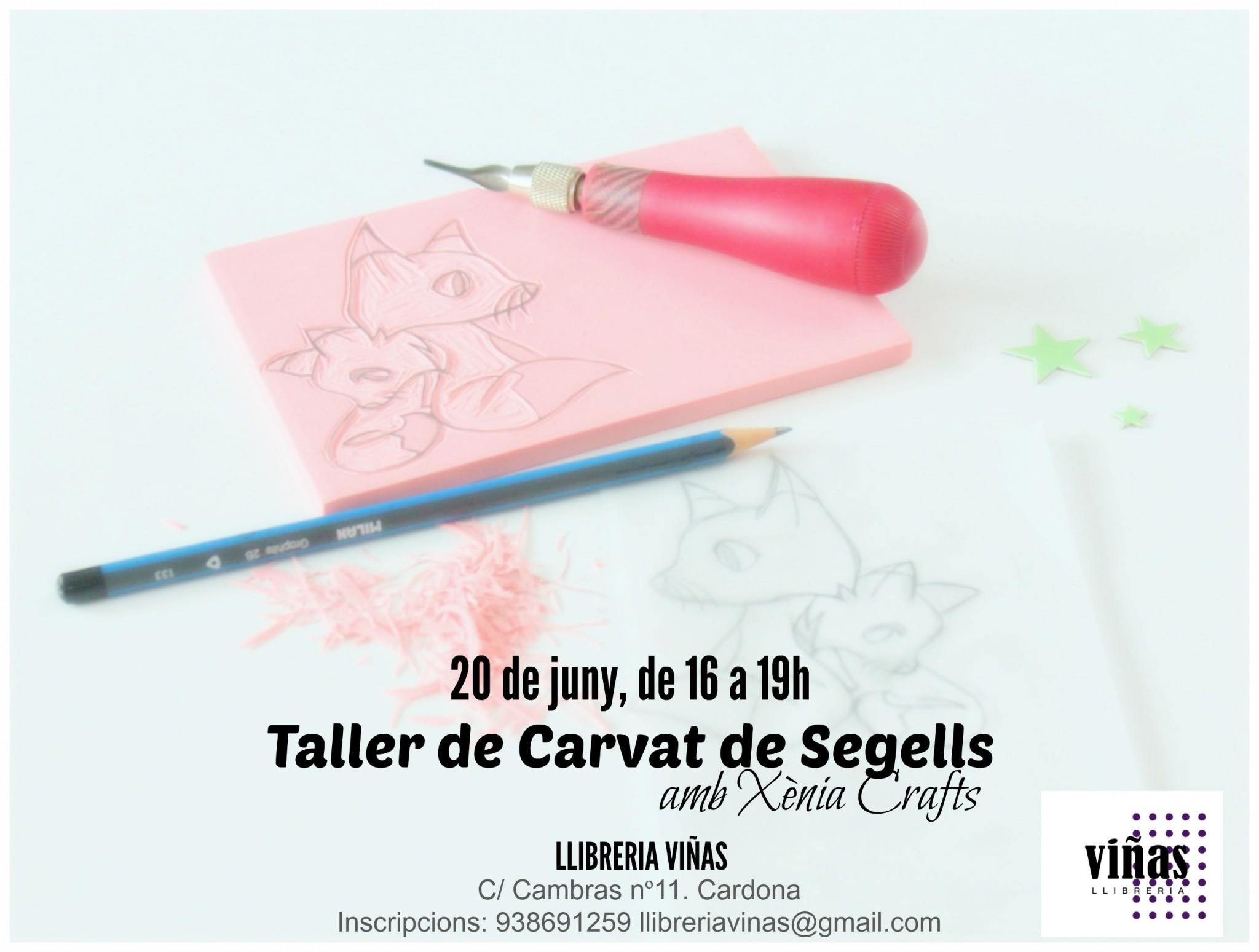 Cartell de carvat de segells Llibreria Viñas 02