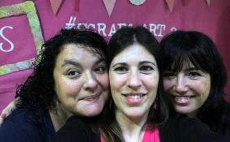 Con Mireia y Cristina Scrap and Art 2013