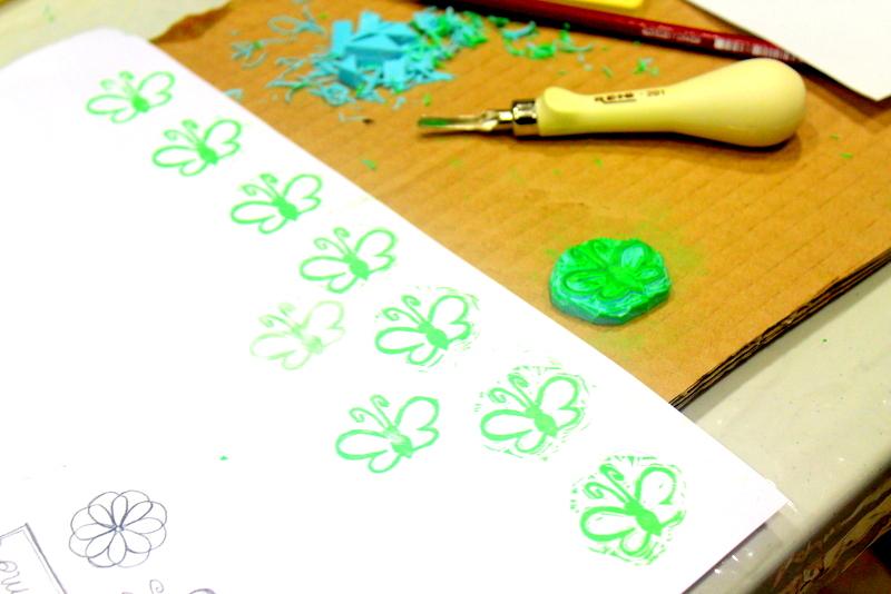 Xènia Crafts a Anuska Cardedeu Taller de carvat de segells-008