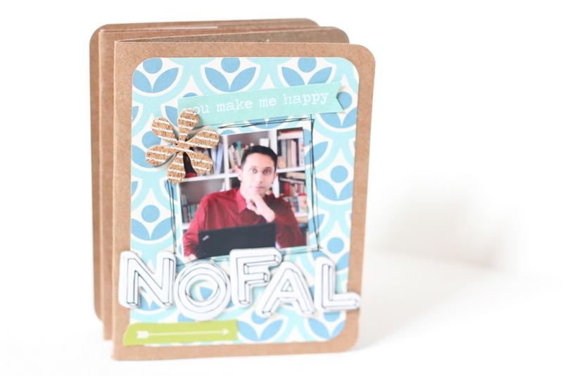 Mini con tarjetas de project life