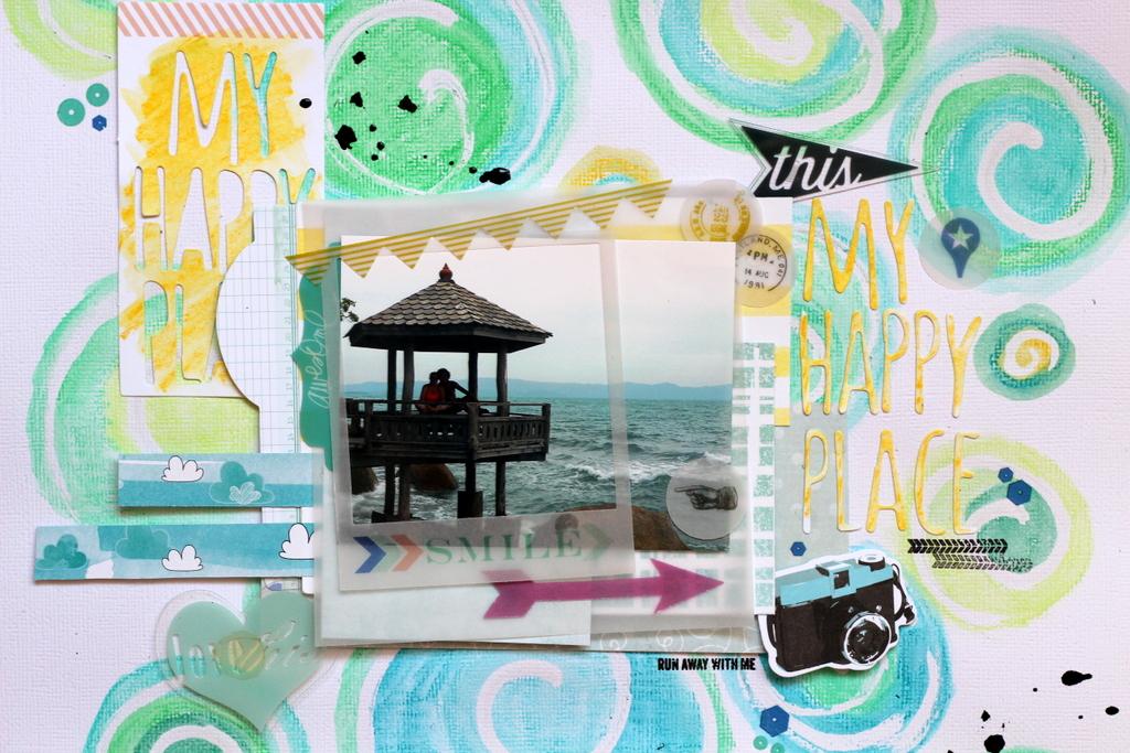 Happy Place, fondo con Neocolors II-001