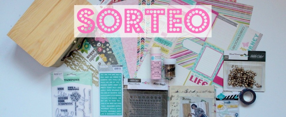 cartel Sorteo Scrapbooking Xènia Crafts