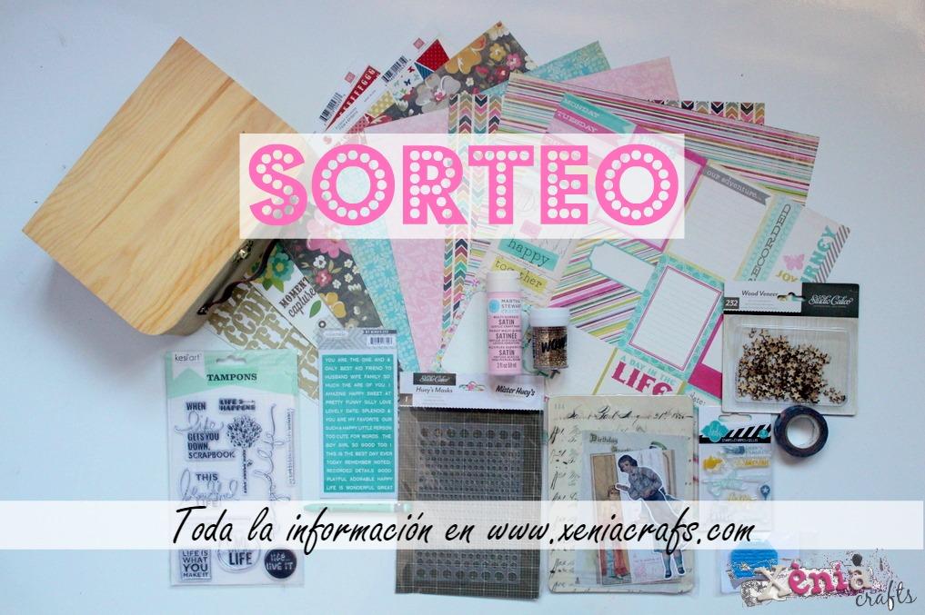 cartel Sorteo Scrapbooking Xènia Crafts
