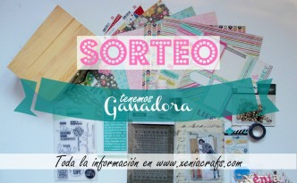 cartel ganadora Sorteo Scrapbooking Xènia Crafts