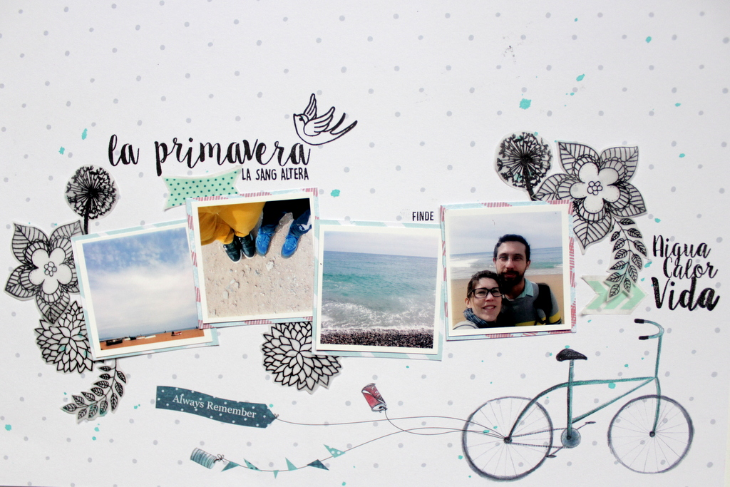 Layout scrapbooking La Primavera Xènia Crafts-001