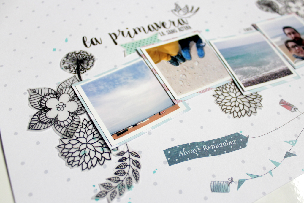 Layout scrapbooking La Primavera Xènia Crafts-002