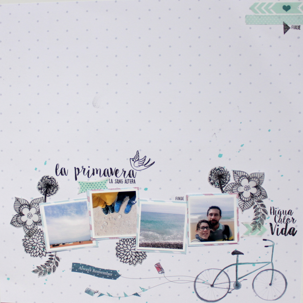 Layout scrapbooking La Primavera Xènia Crafts