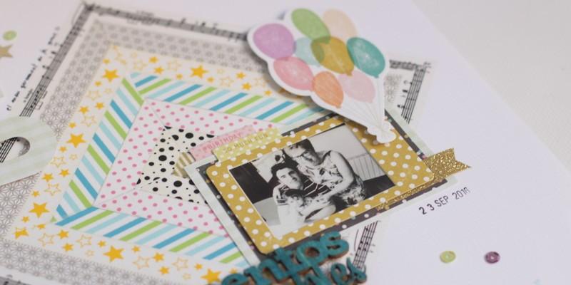 layout con washi tape