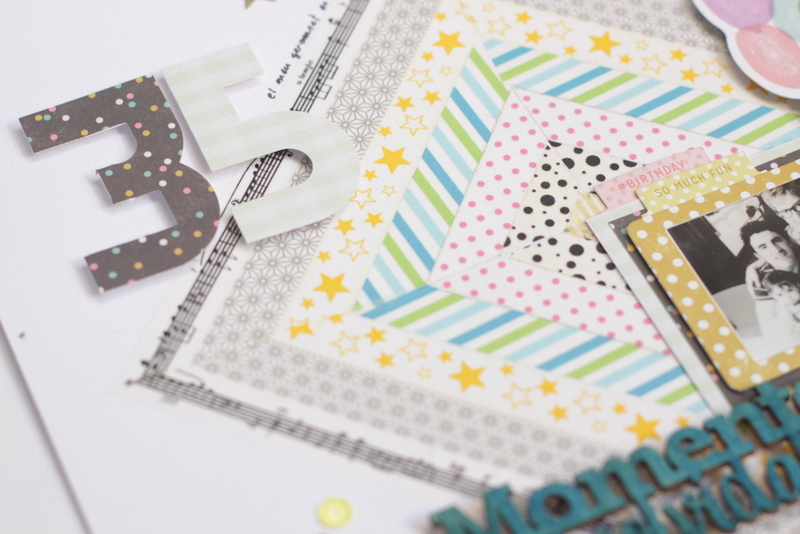 layout con washi tape