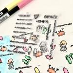 Huele a vacaciones!!!! Estrenando mis nuevos sellos de mintopiastudio alfinesveranohellip