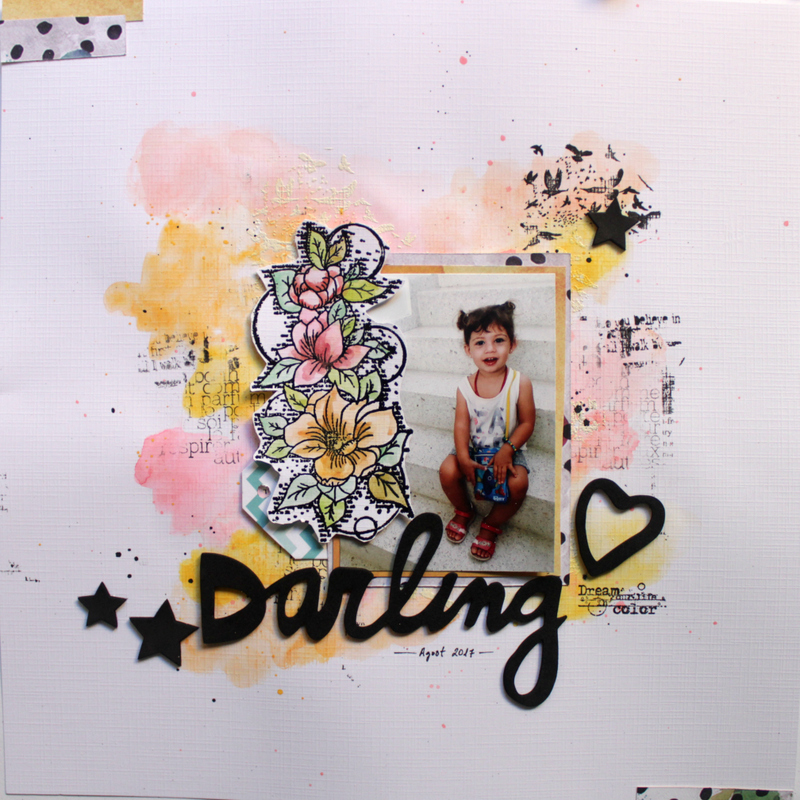 scrapbooking layout darling
