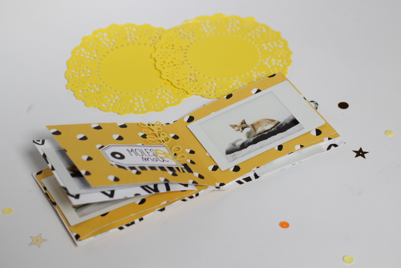 mini album fácil con una hoja 07