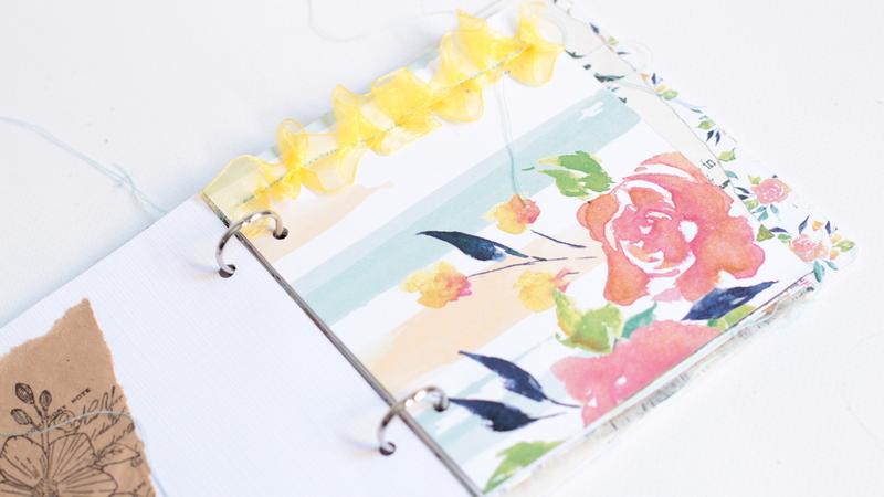 Mini álbum primaveral con rosa rosae-002