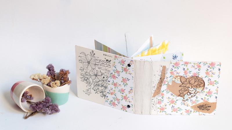 Mini álbum primaveral con rosa rosae-006