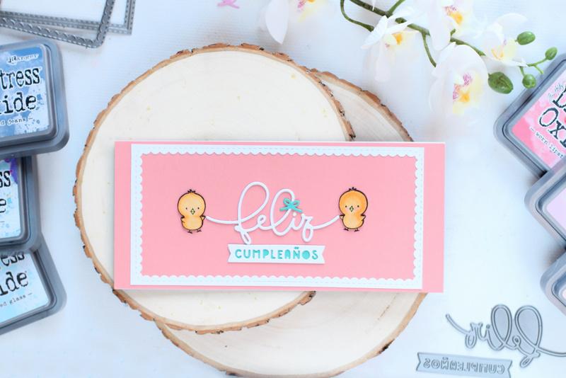 Me han invitado a participar en el blog de La Pareja Creativa y ésta ha sido mi aportación: tres slimeline cards